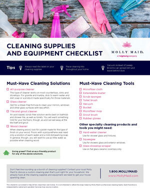 Our Cleaning Supply Checklist
